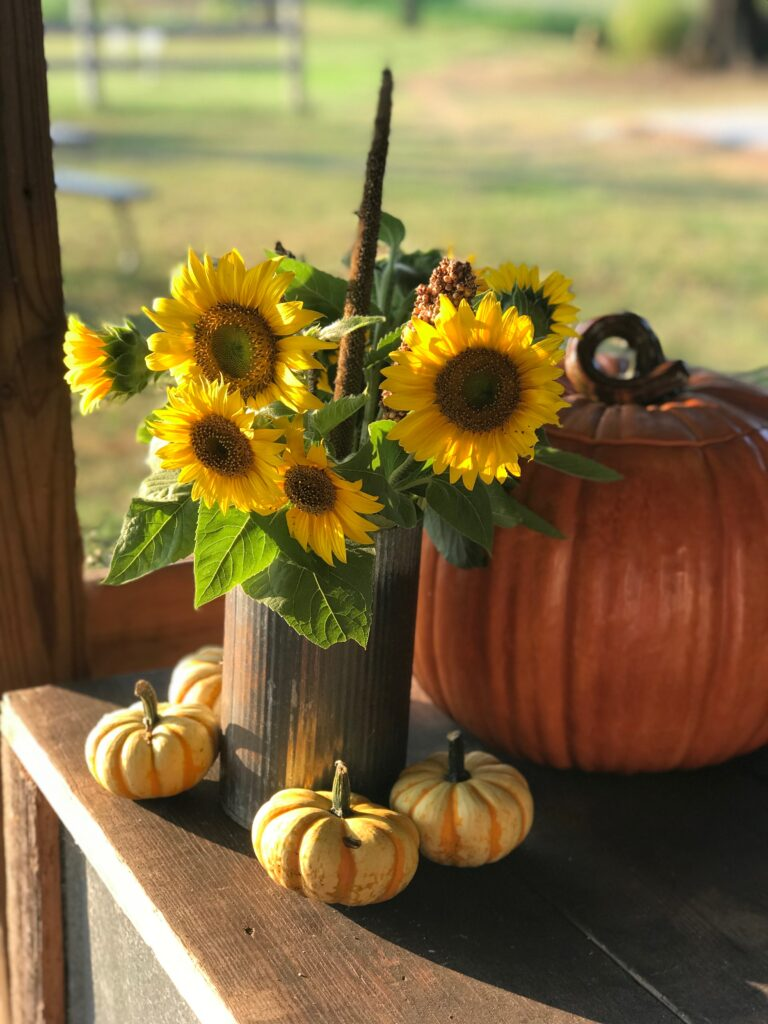 DBF sunflowers make great table decor!